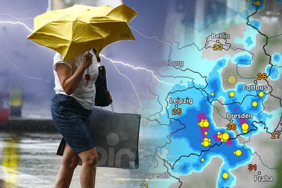 Unwetter-Warnung! Sturm, Hagel und Dauerregen rollen auf Sachsen zu