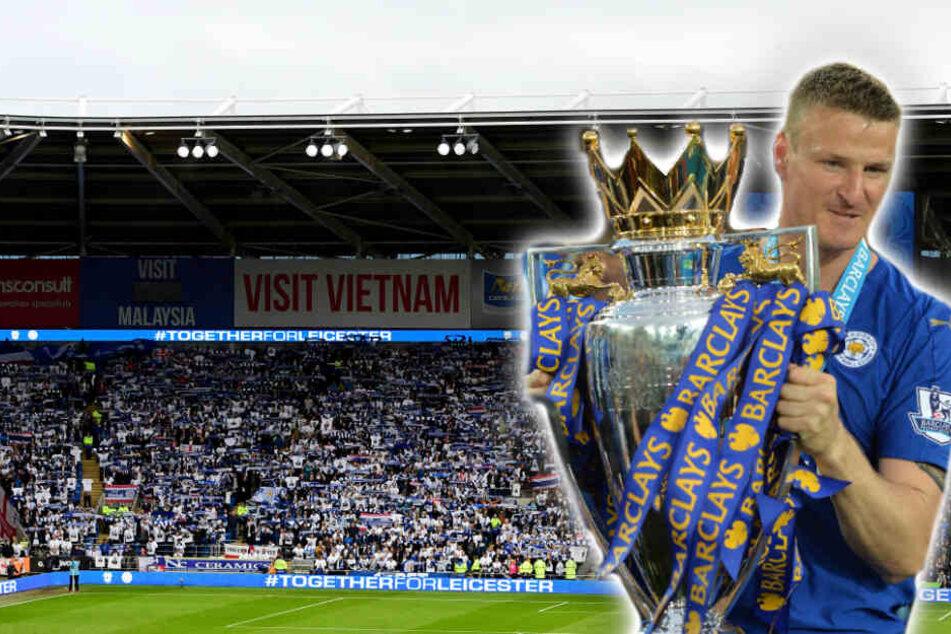 Bei Leicester City gewann Huth einen seiner drei englischen Meistertitel. (Bildmontage)