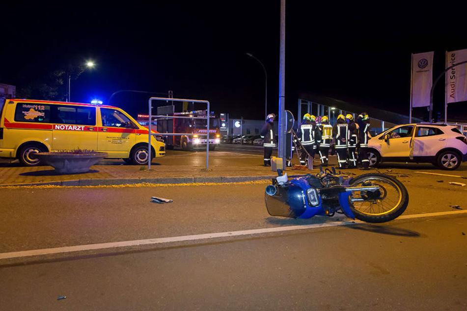 Bei dem Crash gab es zwei Verletzte.