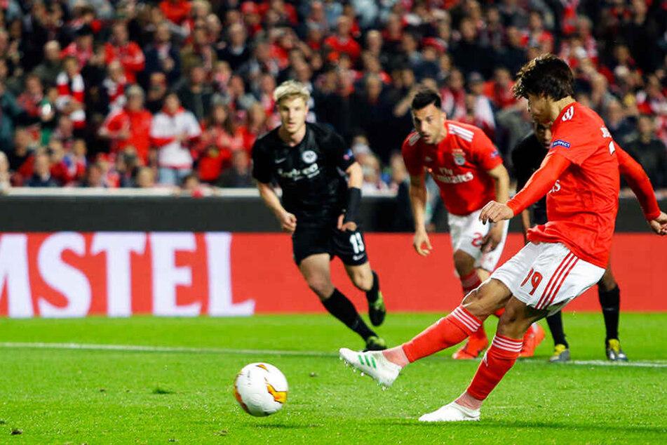 Das 1:0 für Benfica Lissabon gegen Eintracht Frankfurt war auch das erste Tor in der Europa League für Joao Felix.