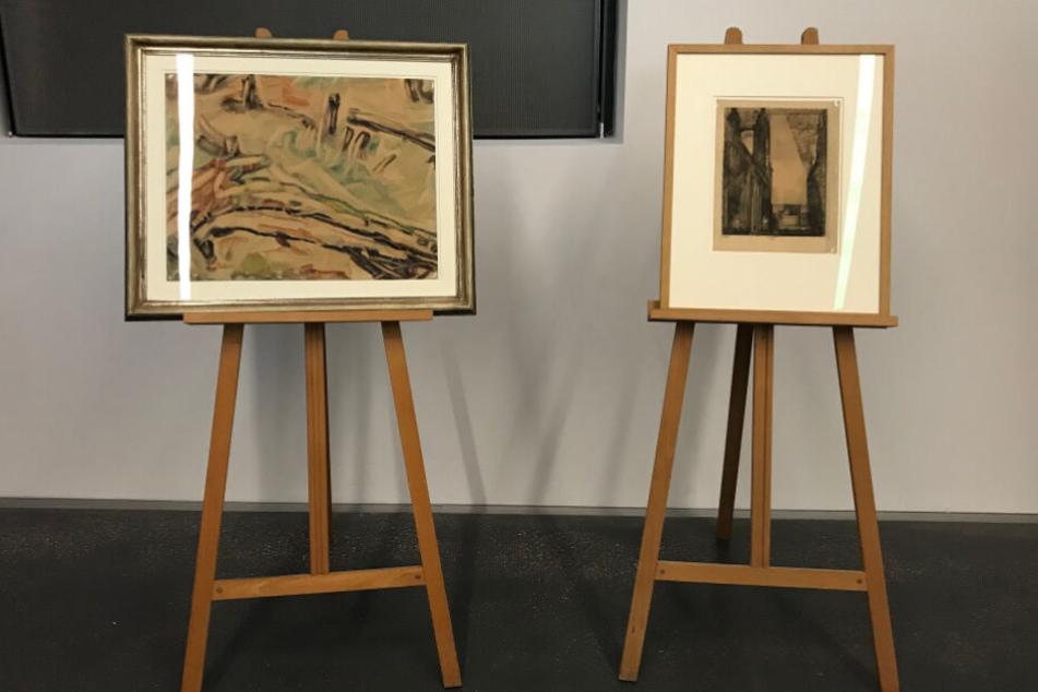 """Die """"Studie nach einem Baumstamm"""" (l.) wurde von den Nazis als """"Entartete Kunst"""" beschlagnahmt."""
