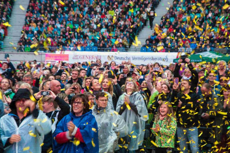 Der Schlagerstar begeisterte am vergangenen Wochenende 80.000 Fans.