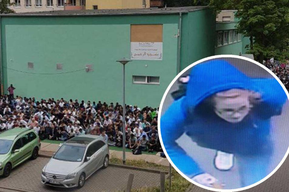 Junge Frau geht in Moschee und sprüht Hakenkreuz an die Wand