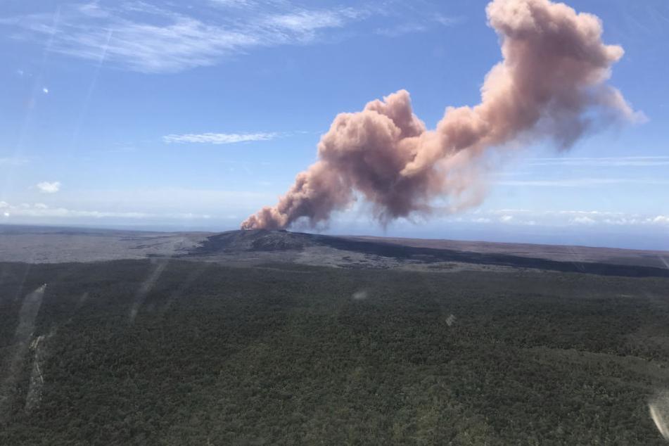 Der Kilauea auf Hawaii ist ausgebrochen.