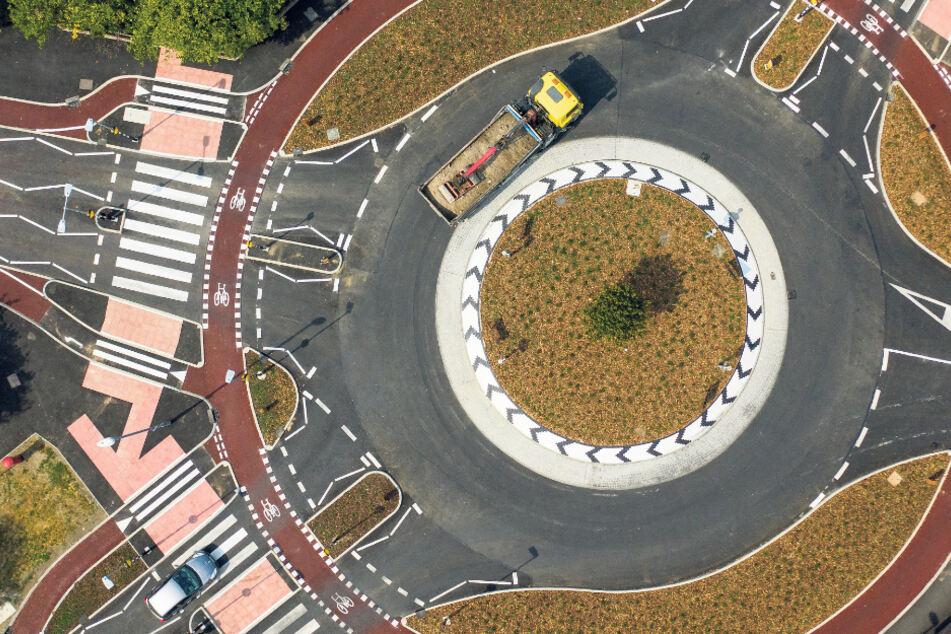 Eine runde Sache auch für Dresden? Ein neuer Kreisverkehr im englischen Cambridge.