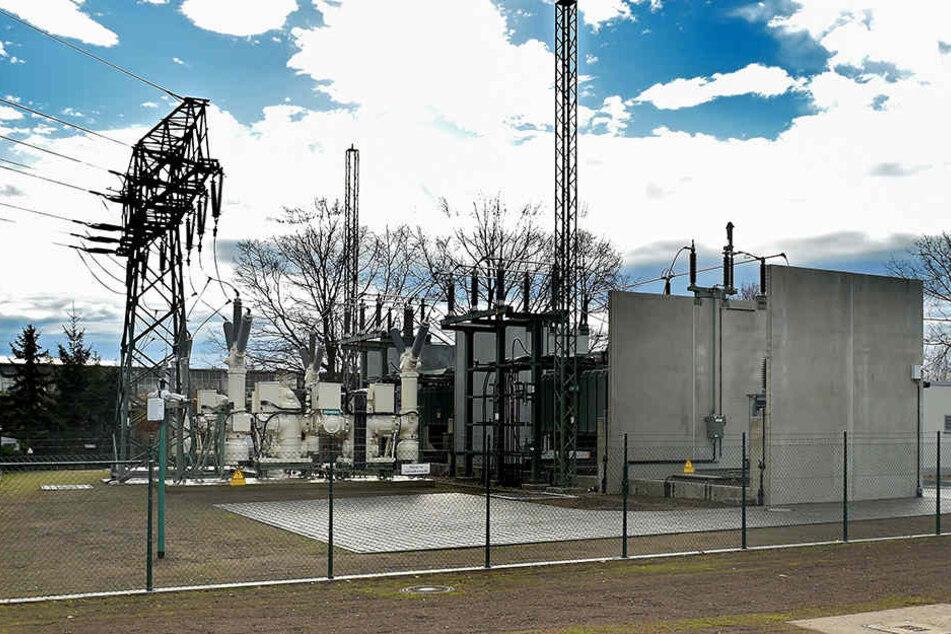 Blick aufs Umspannwerk Dresden-Kaditz. Ab 1. Januar erhöht die DREWAG die Strompreise.