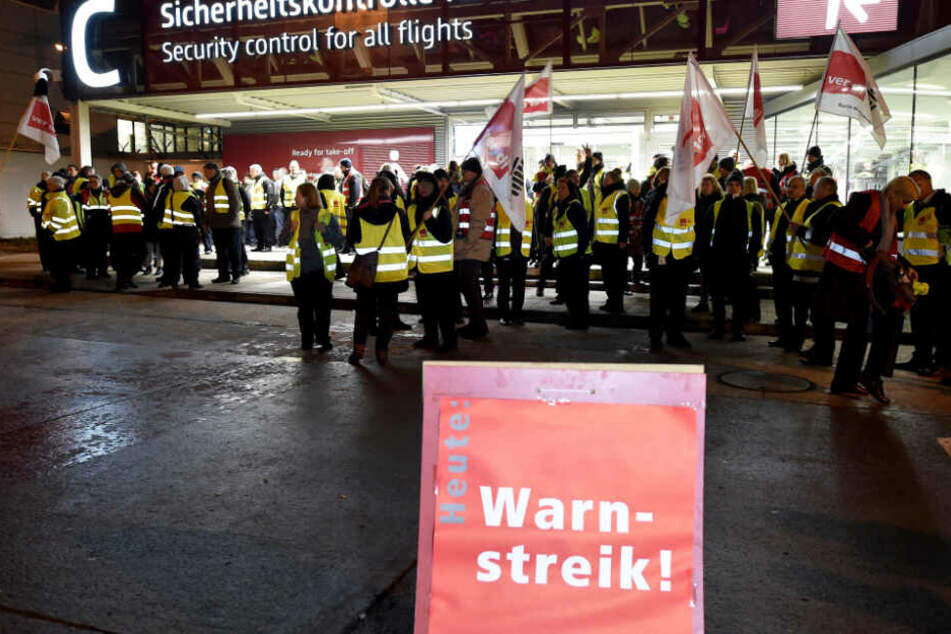 Bereits in der vergangenen Woche wurde, wie hier in Berlin, an deutschen Flughäfen gestreikt.
