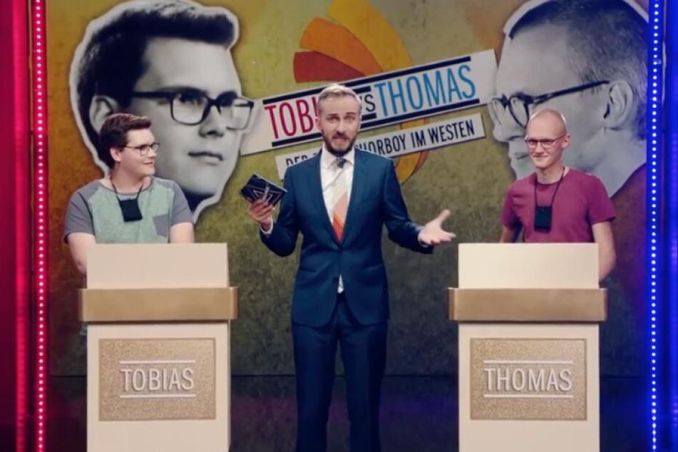 Tobias und Thomas durften gegeneinander singen.