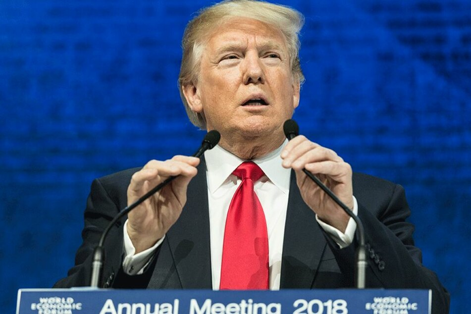Eckte in Davos mächtig an: Donald Trump.