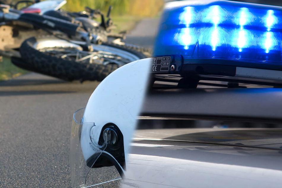 Tödlicher Crash in Sachsen: Biker stürzt auf Bundesstraße und stirbt
