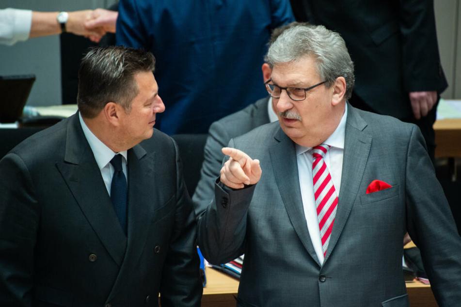 Parlamentspräsident Wieland (rechts) äußerte sein Mitgefühl.