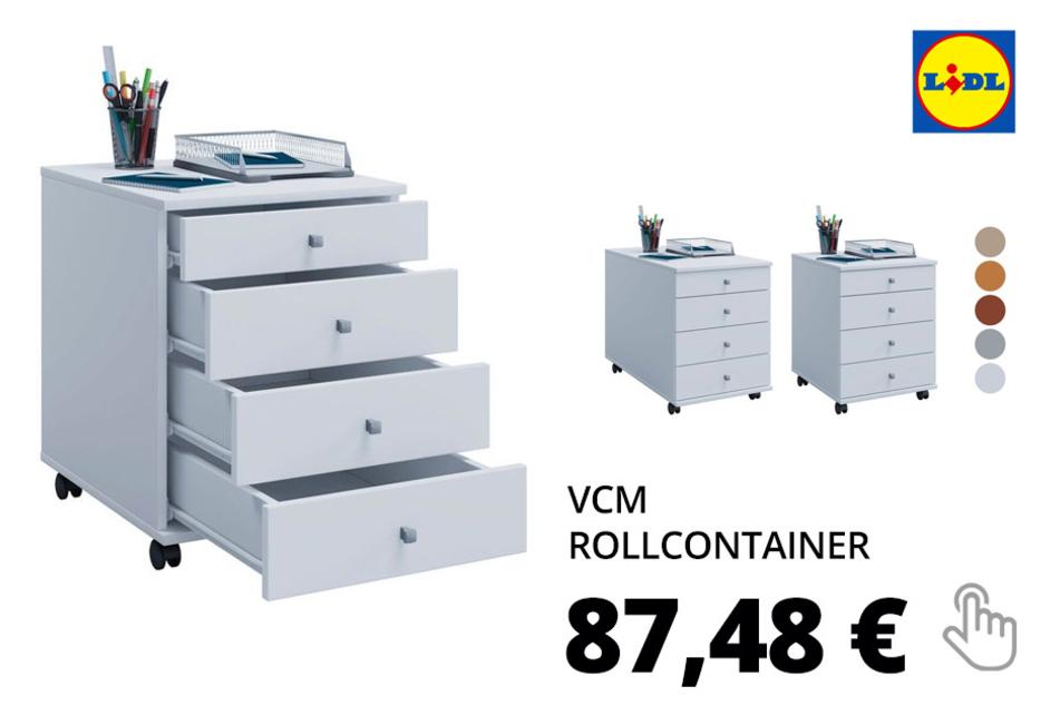VCM Rollcontainer »Lona«, 4 Rollen, 4 Fächer
