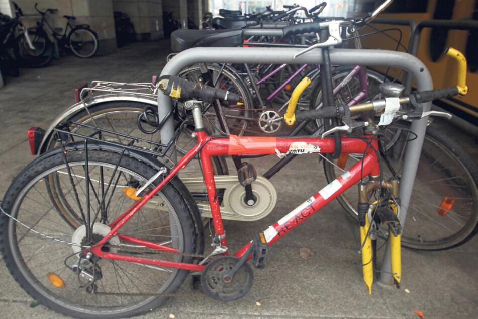 Mehr als 200 solcher Schrottfahrräder entsorgt die Stadtverwaltung pro Jahr.