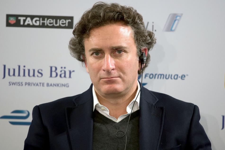 Alejandro Agag, Chef der Rennserie Formel E, gibt im Flughafen Tempelhof in Berlin eine Pressekonferenz. (Archivbild)