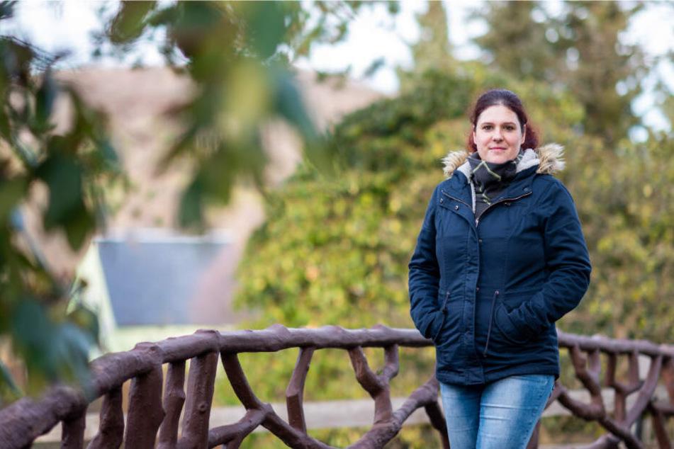 Fühlt sich heimisch in Bad Schlema: Die Brandenburgerin Ulrike Korb (35) kam mit ihrem Mann aus Stuttgart.