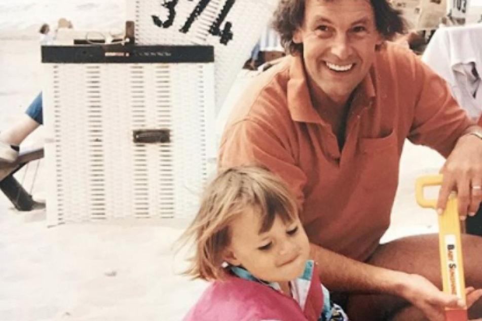 Zum Vatertag postete Laura Wontorra dieses Foto von sich und ihrem Vater Jörg Wontorra.