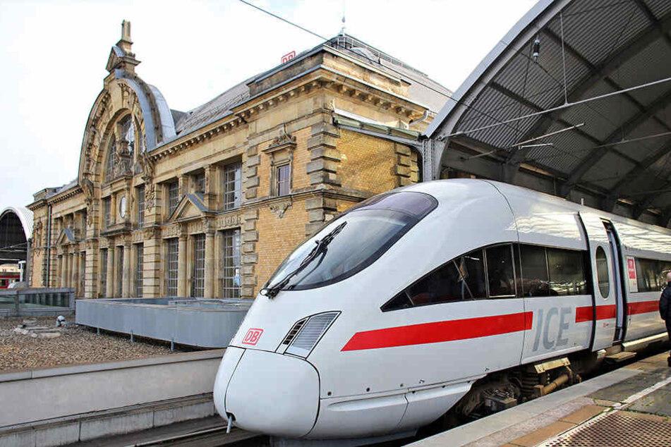 Die Züge am Hauptbahnhof Erfurt standen zum Teil still.