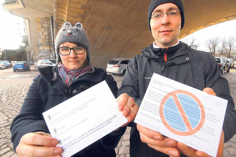 Marienbrücke: Sie machen mobil gegen die Park-Abzocke