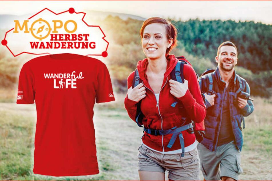 Zum MOPO-Wandertag gibt es für jeden Teilnehmer ein offizielles T-Shirt.