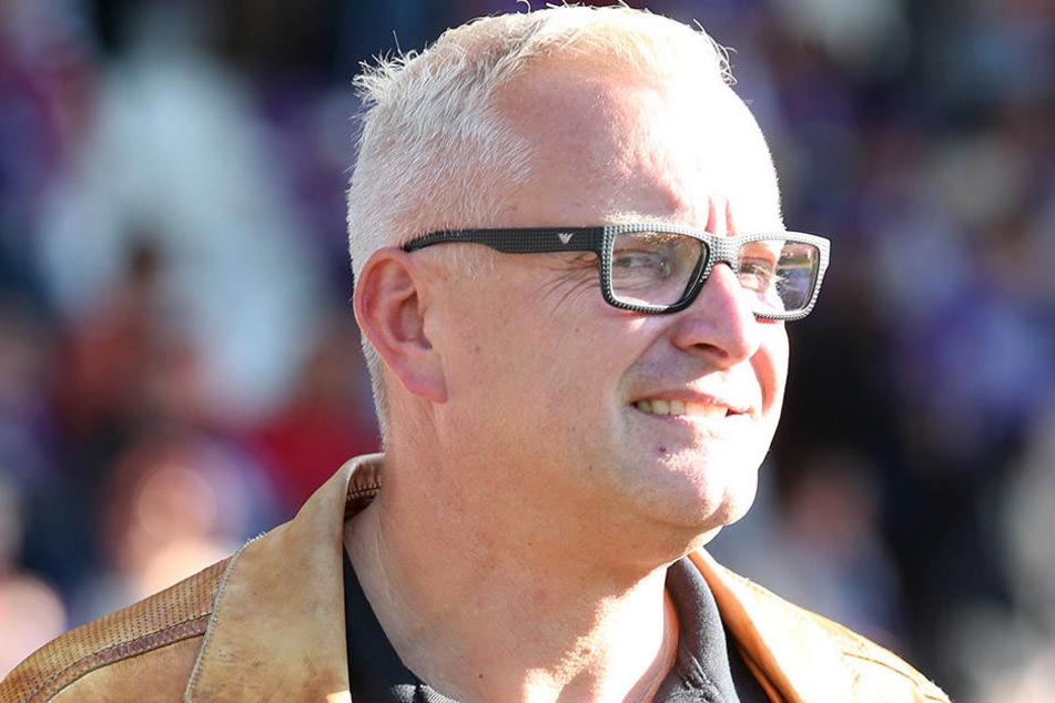 Michael Voigt blickt zufrieden in die Zukunft. Mit dem neuen Stadion entsteht ein neuer Meilenstein in der Geschichte des FC Erzgebirge.
