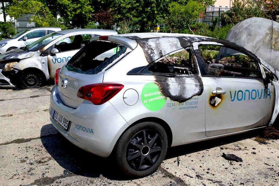 Mehrere Autos der Marke Opel waren betroffen.