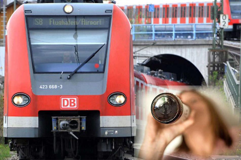 Frau läuft mit fast fünf Promille gegen S-Bahn