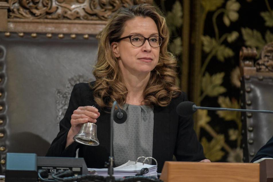 Hamburgs Bürgerschaftspräsidentin Carola Veit (SPD) in der Hamburger Bürgerschaft.