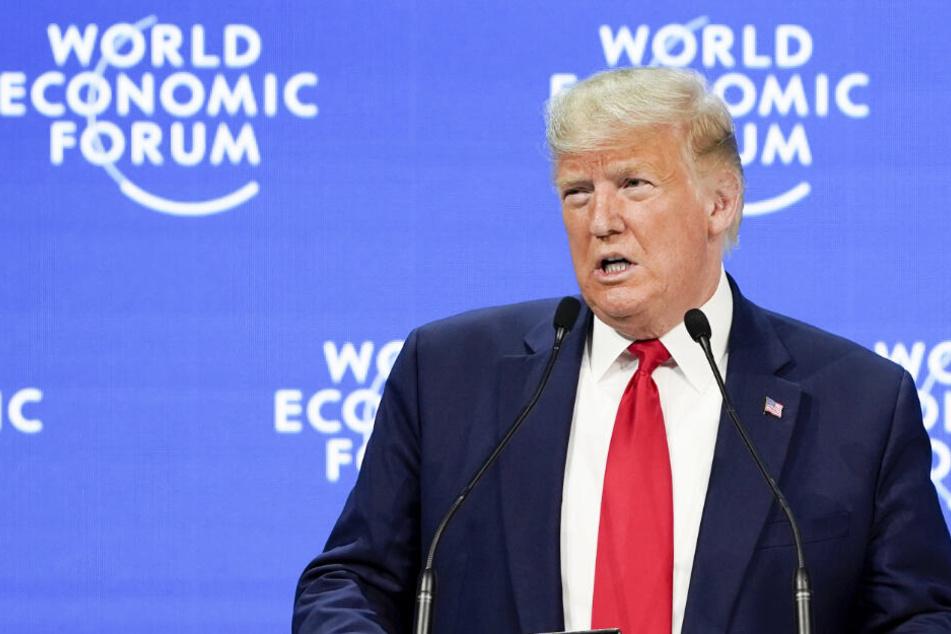 """Donald Trump in Davos: """"Müssen die Vorhersagen einer Apokalypse ablehnen"""""""