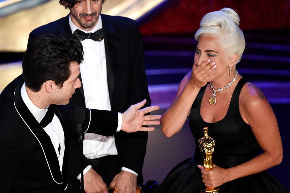 Lady Gaga konnte ihr Oscar-Glück kaum fassen.
