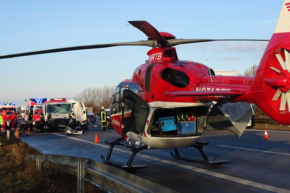 Wegen der Landung eines Rettungshubschraubers wurde die A2 zeitweise komplett gesperrt.
