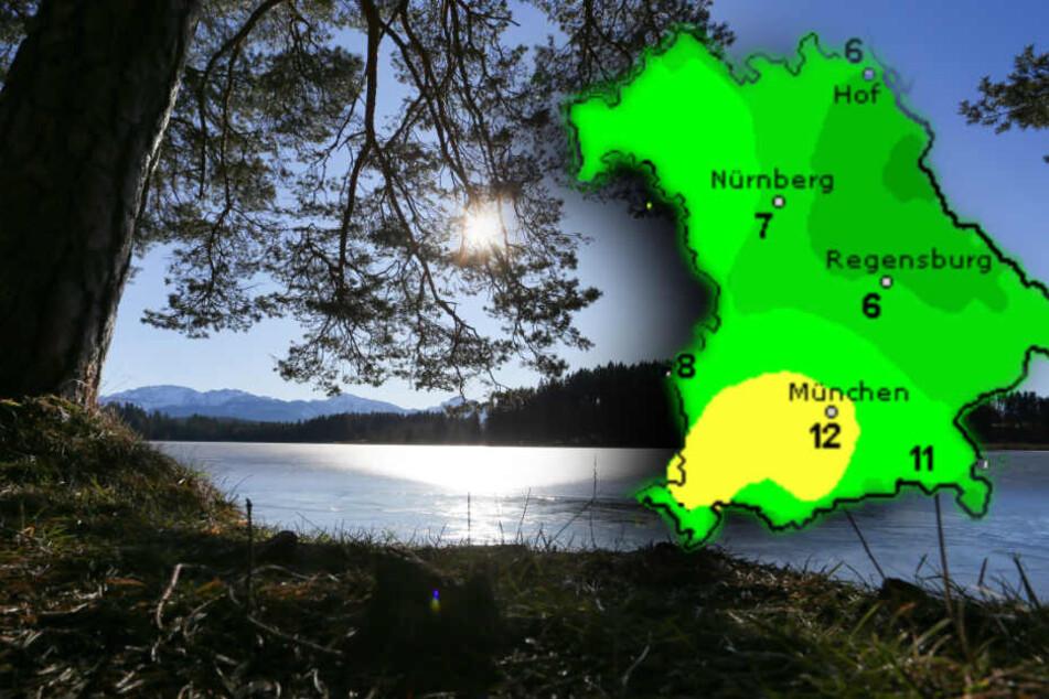 Am Donnerstag werden in München Temperaturen bis zu zwölf Grad erwartet. (Bildmontage)