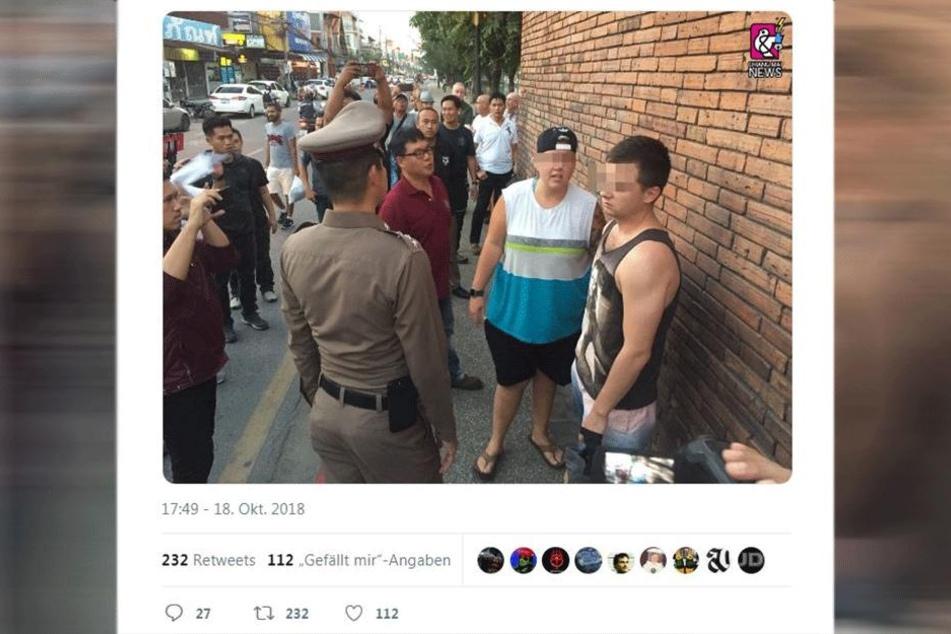 Auf Twitter kursiert ein Bild, das die beiden Männer zeigen soll.