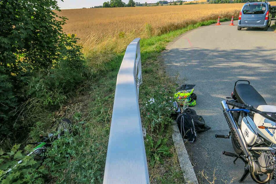 Zur Unfallaufnahme war die Lenkersdorfer Straße am Sonntag voll gesperrt.