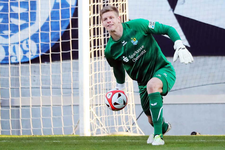 Jakub Jakubov durfte zurück ins CFC-Tor und hielt mit starken Paraden die drei Punkte gegen Hertha fest.