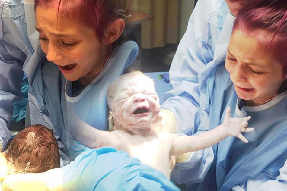 Unglaubliche Bilder: 12-Jährige hilft Mutter bei der Geburt