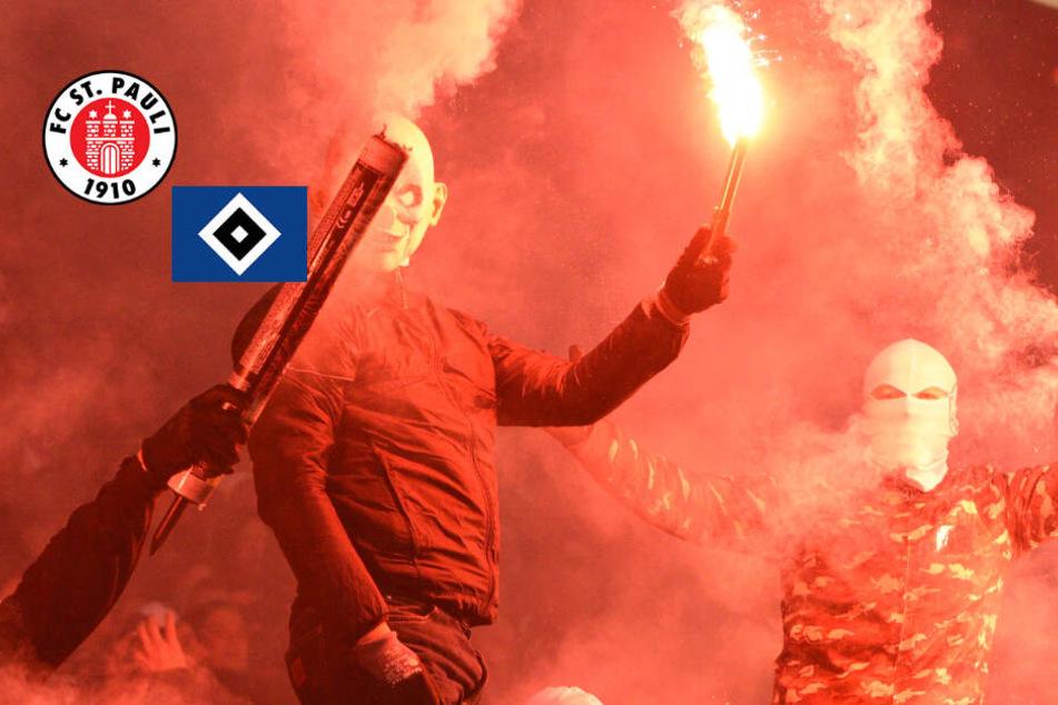 Pyro-Wahnsinn am Millerntor: Stadtderby unterbrochen!