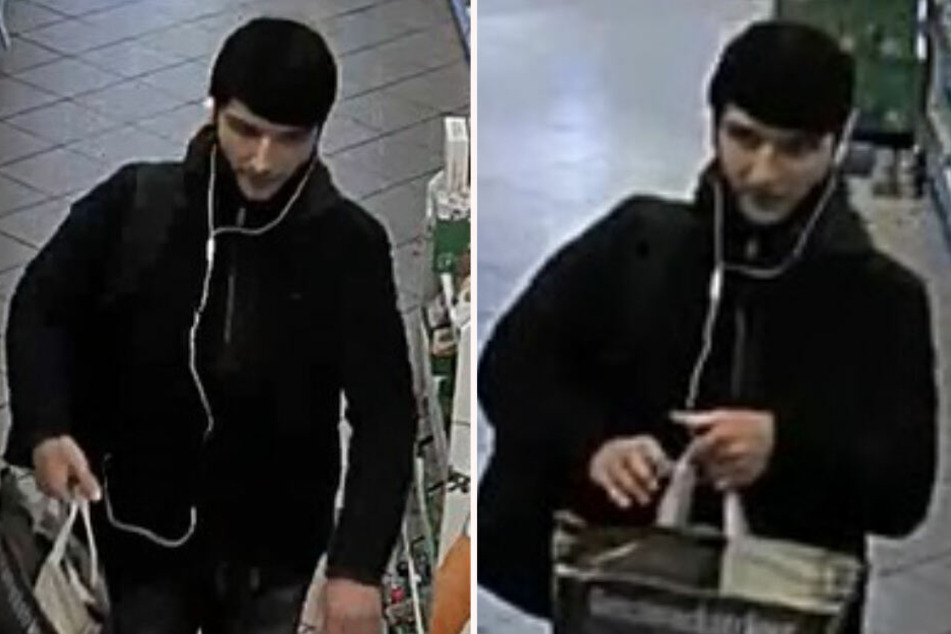 Mit Bildern aus einer Überwachungskamera sucht die Polizei nach diesem Mann.