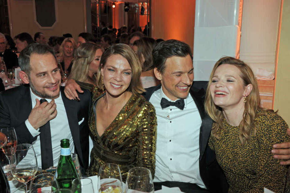 Schauspieler Moritz Bleibtreu, Jessica Schwarz, Florian David Fitz und Karoline Herfurth (v-l).