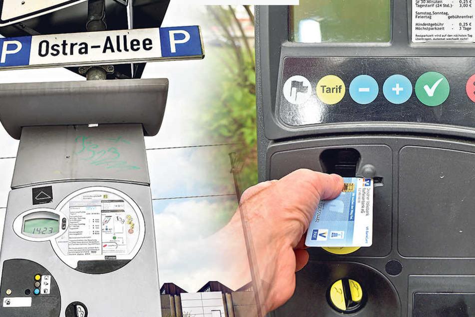 Wer keine Geldkarte zur Hand hat, muss an den alten Automaten mit Münzen zahlen.