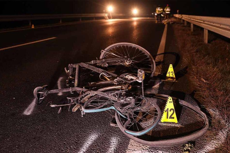 Schmidtgens Fahrrad nach dem Unfall.