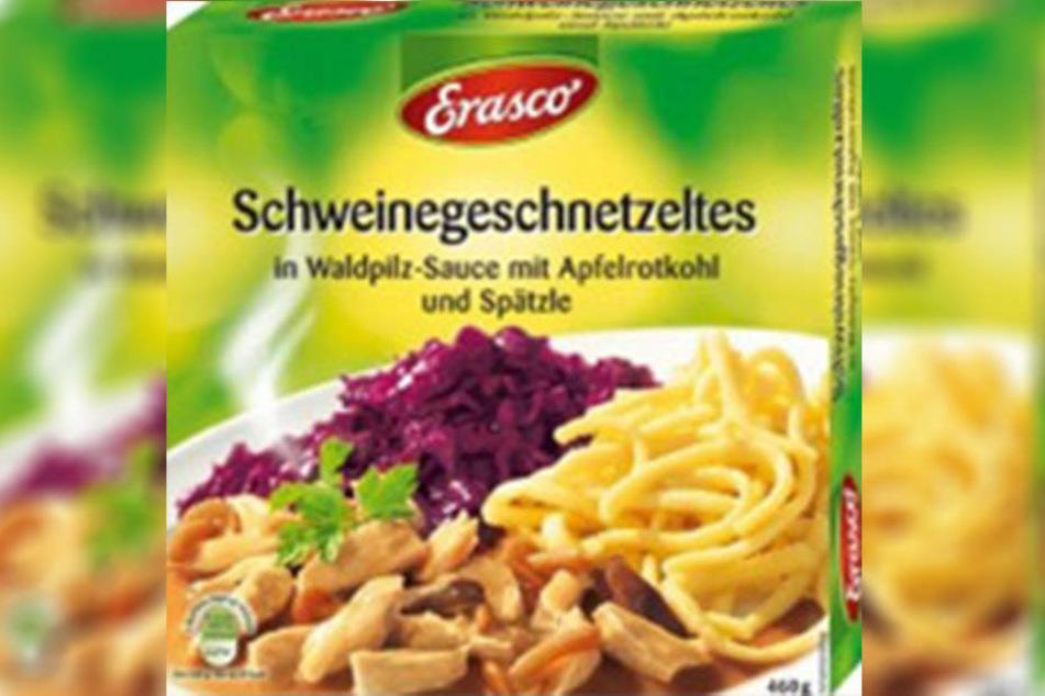 Im Schweinegeschnetzelten in Waldpilz-Sauce mit Rotkohl und Spätzle sollen Glasstückchen gefunden worden sein.