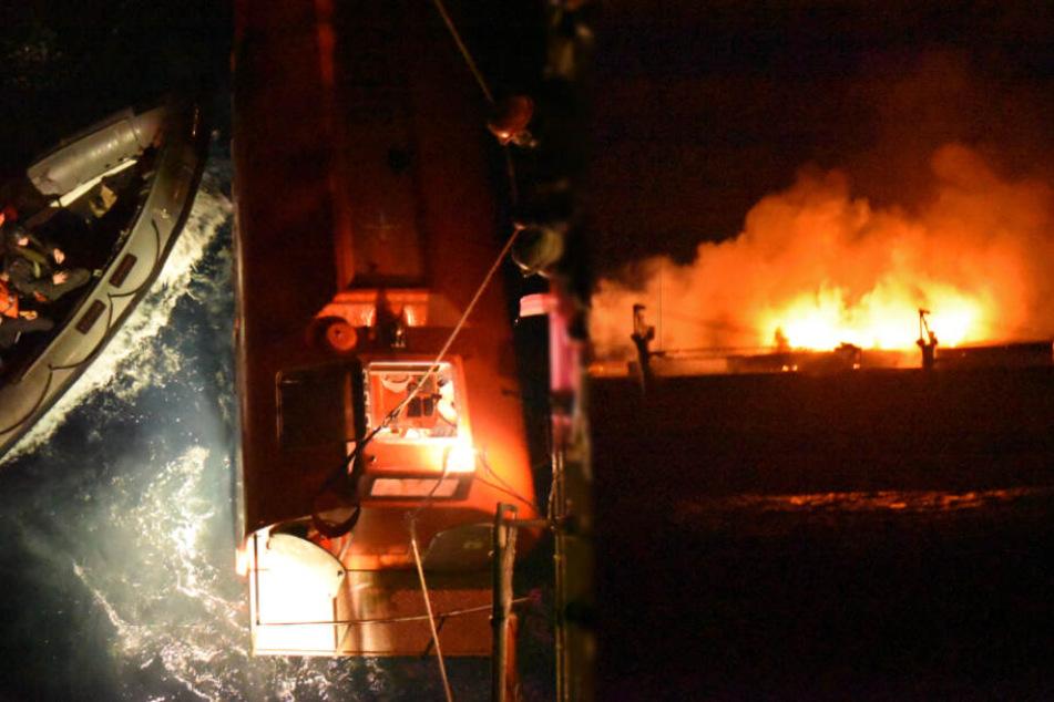 Schiff fährt von Hamburg ins Flammen-Inferno, statt in den sicheren Hafen