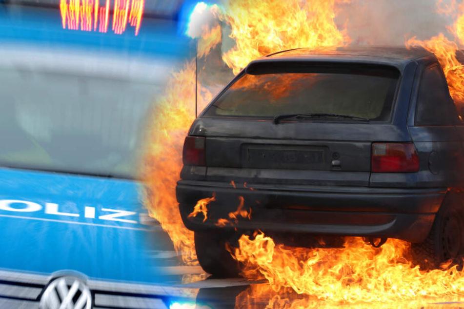 Auto fängt Feuer: Mensch verbrennt auf Autobahn!