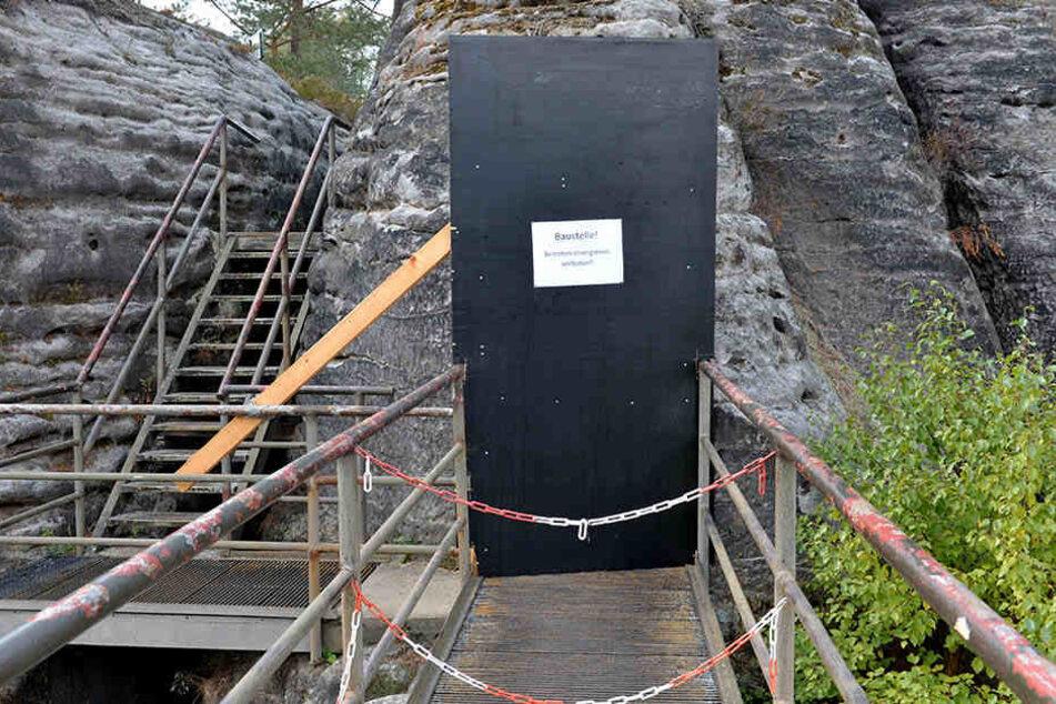 Ein Teil der Anlage ist während der Bauarbeiten gesperrt.