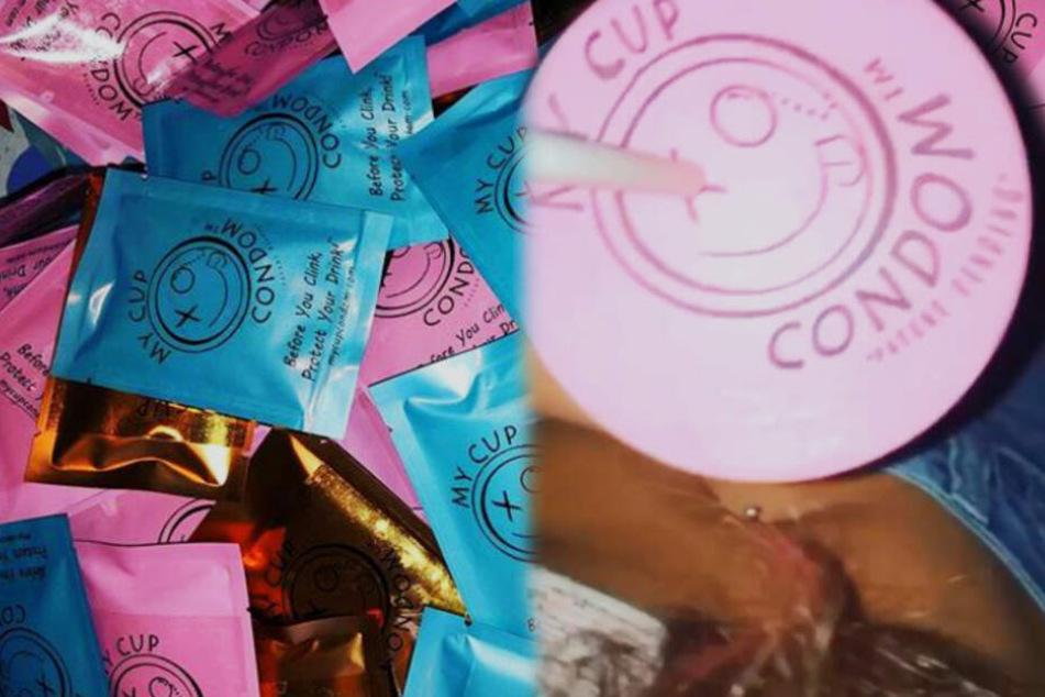Kondom fürs Glas soll vor K.O.-Tropfen schützen