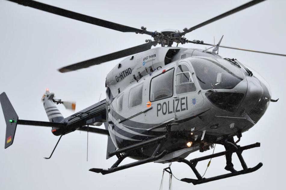 Polizei fahndet mit Hubschrauber nach verletztem Einbrecher
