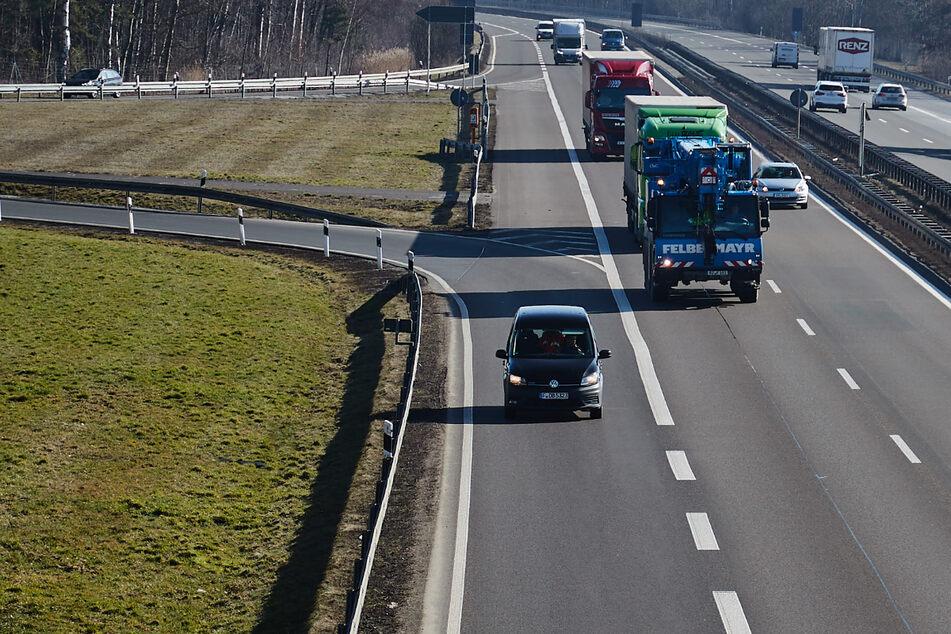 Auf der A4 kam es in Richtung Dresden zu einem Unfall am Sonntagmorgen (Archivbild).