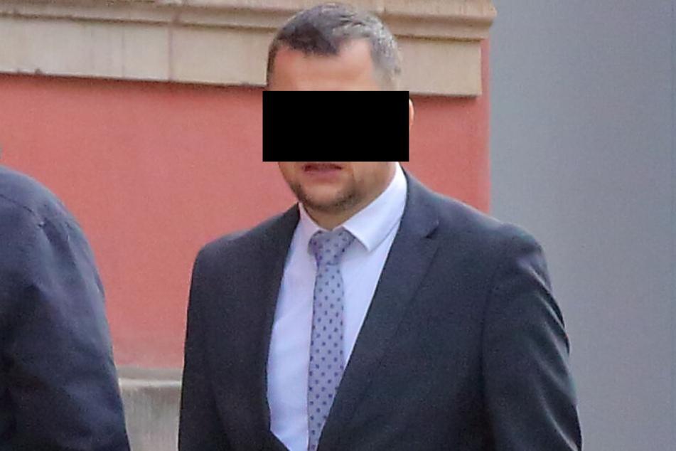 Hauptkommissar Rene M. (48) wurde von der Amtsrichterin in Meißen verurteilt.
