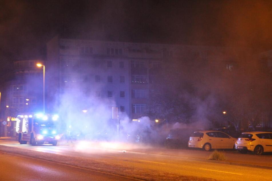 In der Rostocker Südstadt musste die Feuerwehr gleich mehrfach ausrücken.