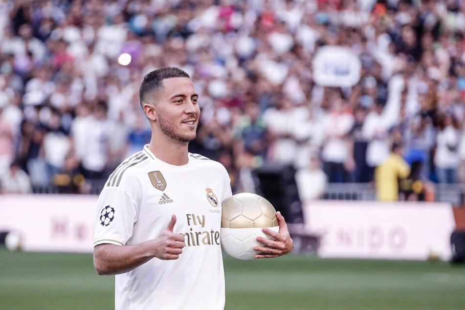 Nach sieben Jahren beim FC Chelsea London, wechselte der Belgier in diesem Sommer für 100 Millionen Euro zu Real Madrid
